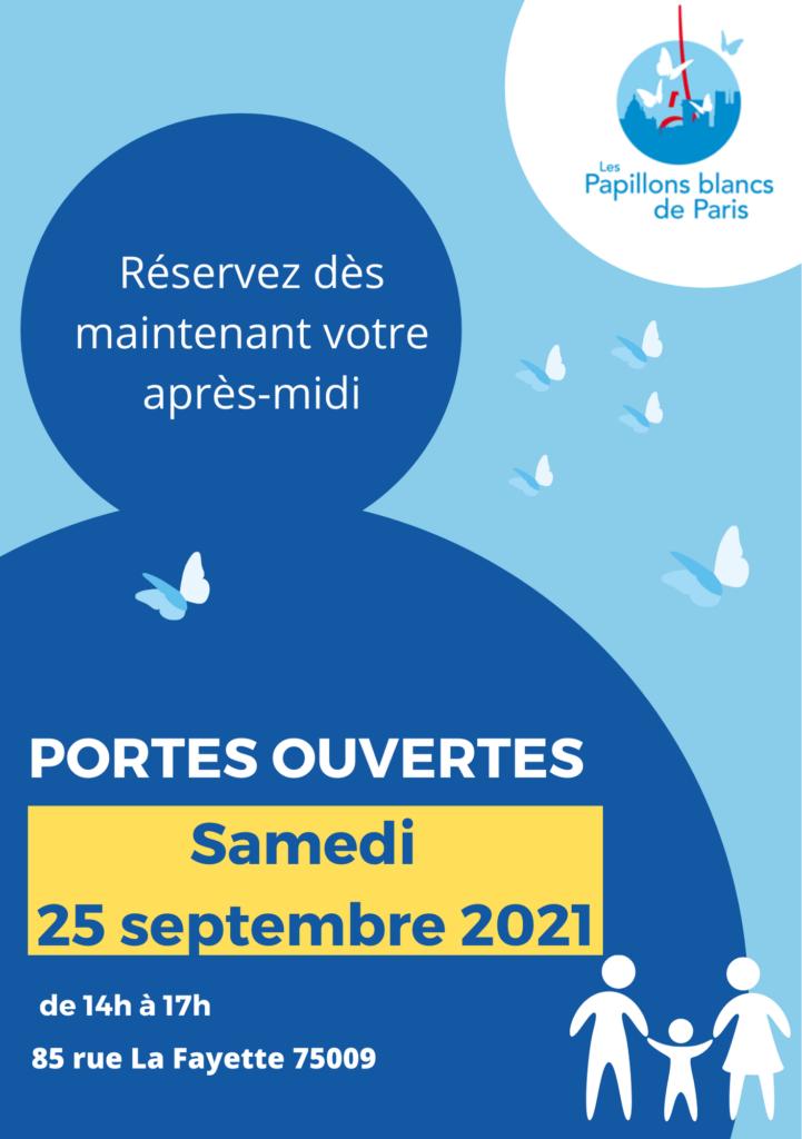 affiche journée portes ouvertes des papillons blancs de Paris 2021